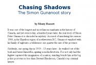 Chasing Shadows: The Simon Gunanoot Story