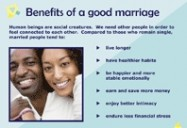 Preparing for Marriage PowerPoint Presentation