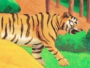 Nandi and the Tigers — Through the Art style of Paul Serusier