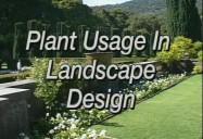 Plant Usage in Landscape Design